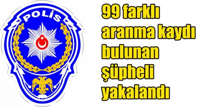 Kars'ta 99 farklı aranma kaydı bulunan şüpheli yakalandı