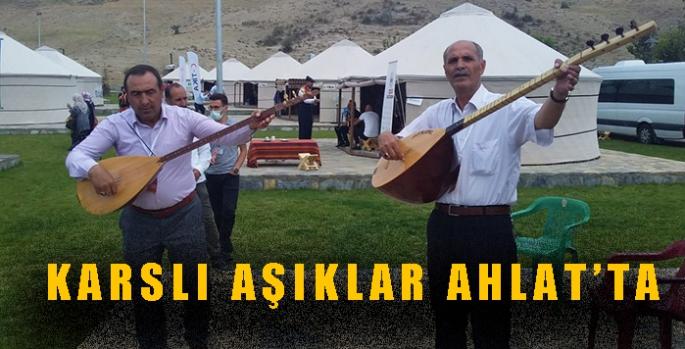 Karslı Aşıklar Mahmut Karataş ve Ayhan Şimşekoğlu Ahlat'ta
