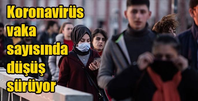 Koronavirüs vaka sayısında düşüş sürüyor