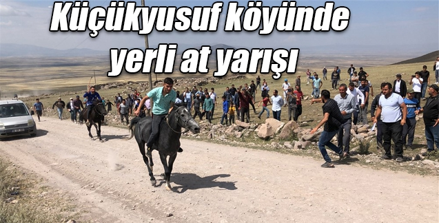Küçükyusuf köyünde yerli at yarışı