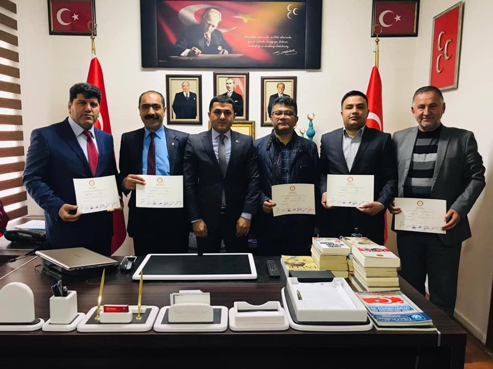 MHP Belediye Meclis Üyelerinden Adıgüzel'e ziyaret