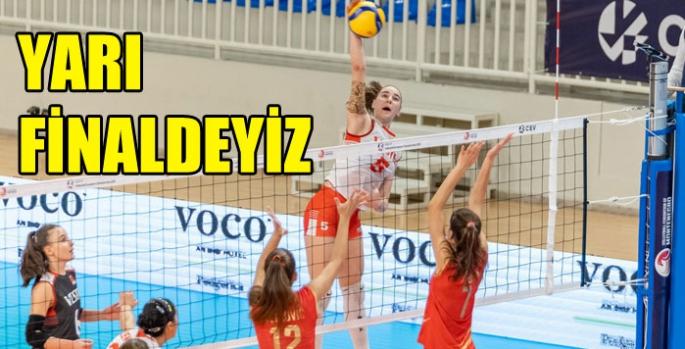 U17 Avrupa Voleybol Şampiyonası'nda yarı finaldeyiz